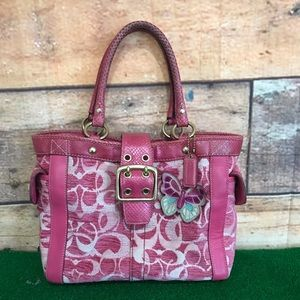 Coach Rare Signature Butterfly Handbag